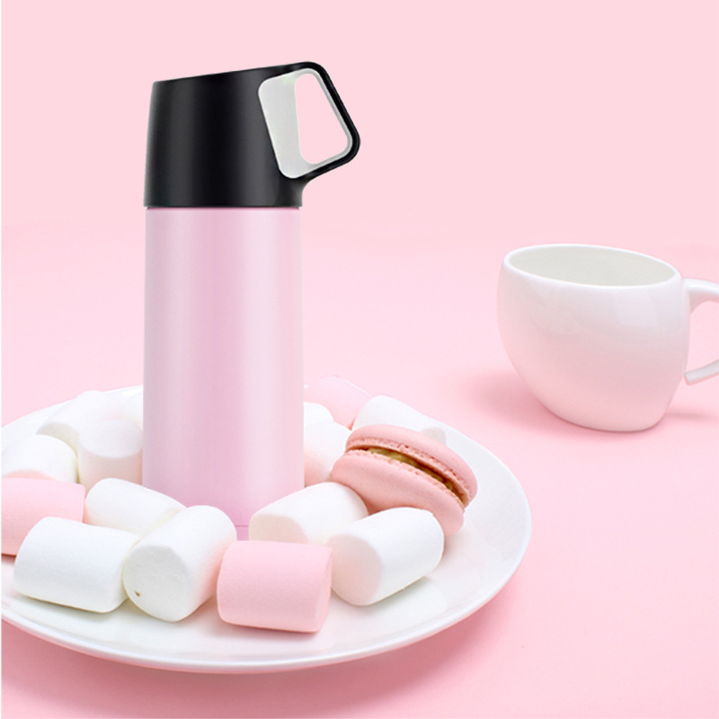 Creative stainless steel thermos With cup thermo cup Ultralight thermo bottle Coffee Vacuum cup Leakproof portable water bottle in Vacuum Flasks Thermoses from Home Garden