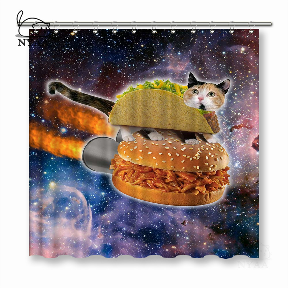 Buy Shower Curtain Cat Space And Get Free Shipping On AliExpress