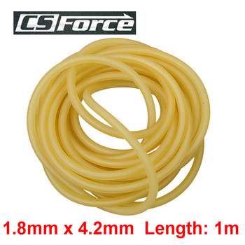 CS Force 1.8mm x 4.2mm Latex Slingshots Rubber Tube 1m Band for Slingshot Hunting Survival Tools Tourniquet Band 1842 image