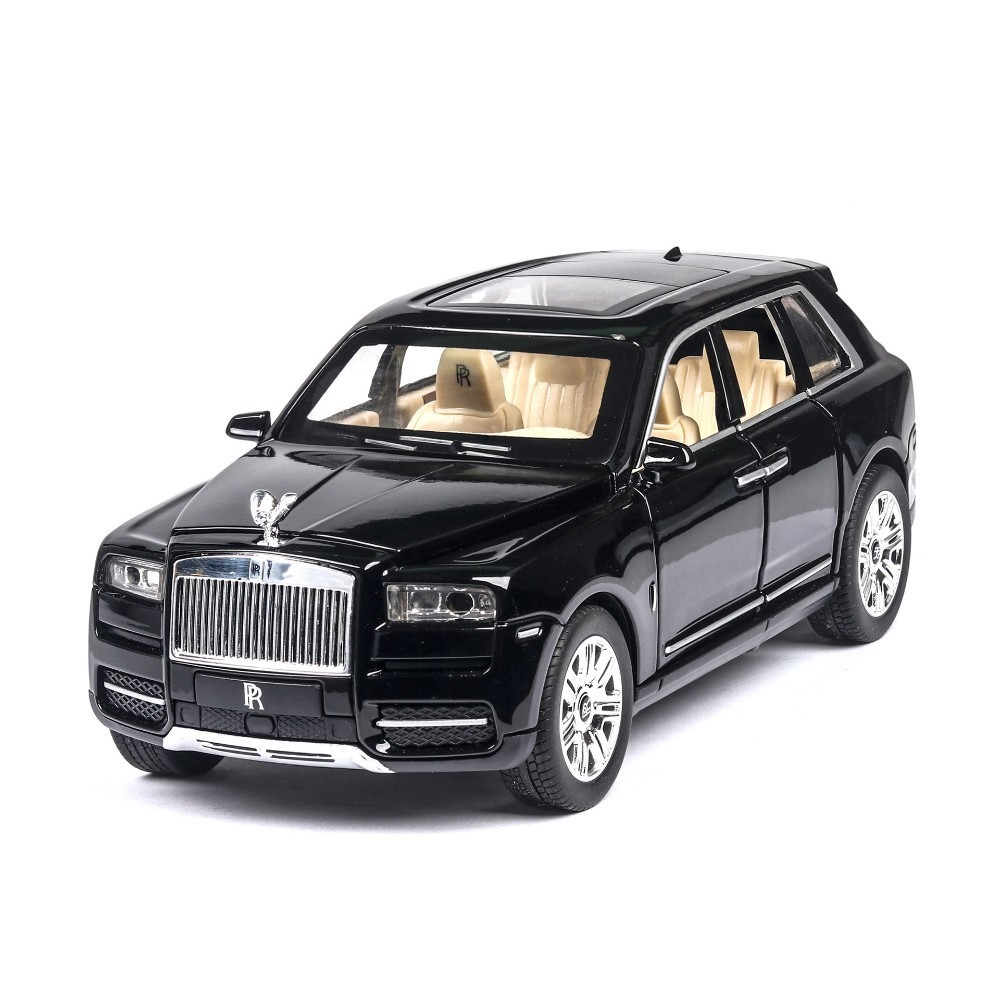 1:24 Rolls Royce Cullinan Alloy Car Model Large Size Simulation SUV Metal Car Model With Light Sound Pull Back 6 Doors Opened