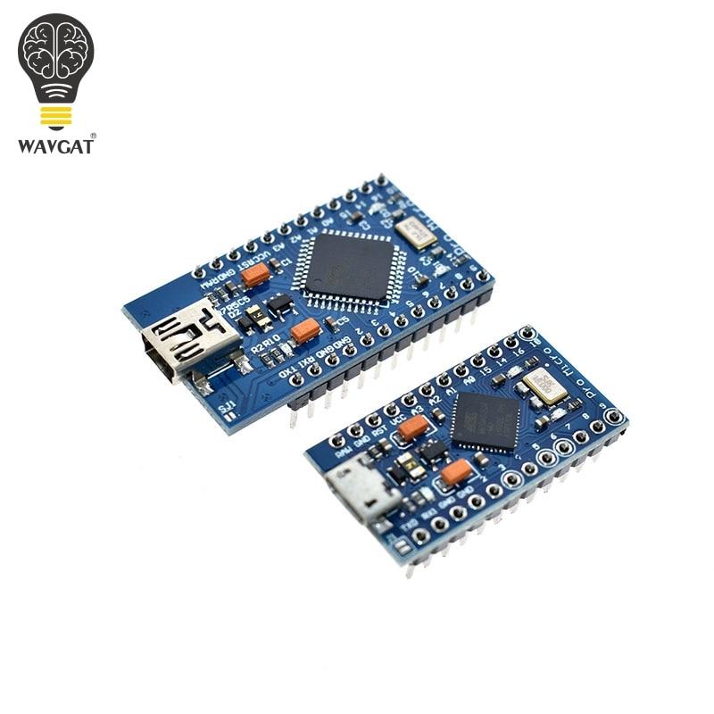 WAVGAT Pro Micro ATmega32U4 5V 16MHz Replace ATmega328 For Arduino Pro Mini With 2 Row Pin Header For Leonardo USB Interface