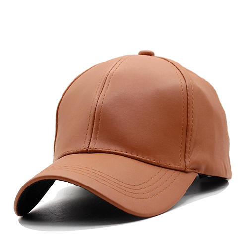 26191a01bbb Plain New Men Baseball Cap Women Leather Snapback Caps Casquette Brand  Adjustable Bone PU Hats For Men Dad Winter Baseball Caps