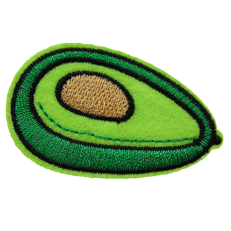 10Pcs Avocado Patches Iron on Patch Embroidered Applique DIY Sewing Craft