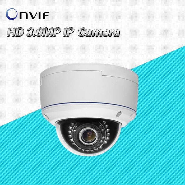3.0MP 1080P Full HD ONVIF Outdoor Waterproof Dome Security CCTV IR Network audio alarm WDR 2.8-12mm varifocal lens IP Camera 3MP 3 0mp hd 1440p wdr ip camera 4mm network onvif security outdoor ir 12v1a