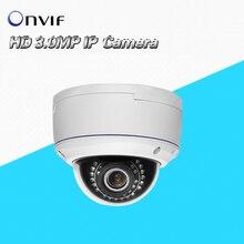3.0MP 1080P Full HD ONVIF Outdoor Waterproof Dome Security CCTV IR Network audio alarm WDR 2.8-12mm varifocal lens IP Camera 3MP