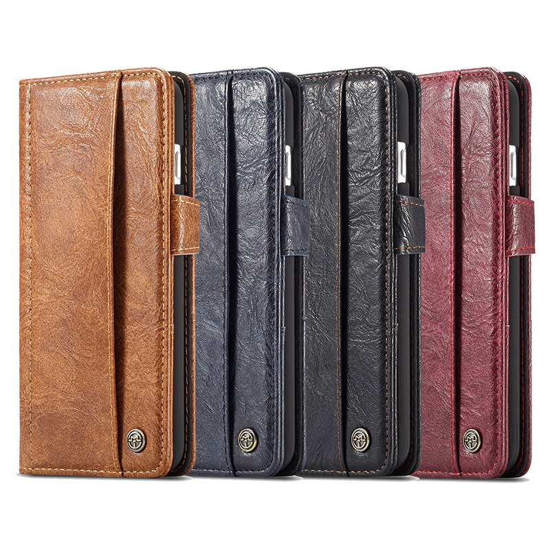 CaseMe Luxury Retro Business Card Holder Leather Case for Samsung Note 8 Flip Wallet Cover for Samsung Galaxy Note 8 Phone Cases in Flip Cases from Cellphones Telecommunications