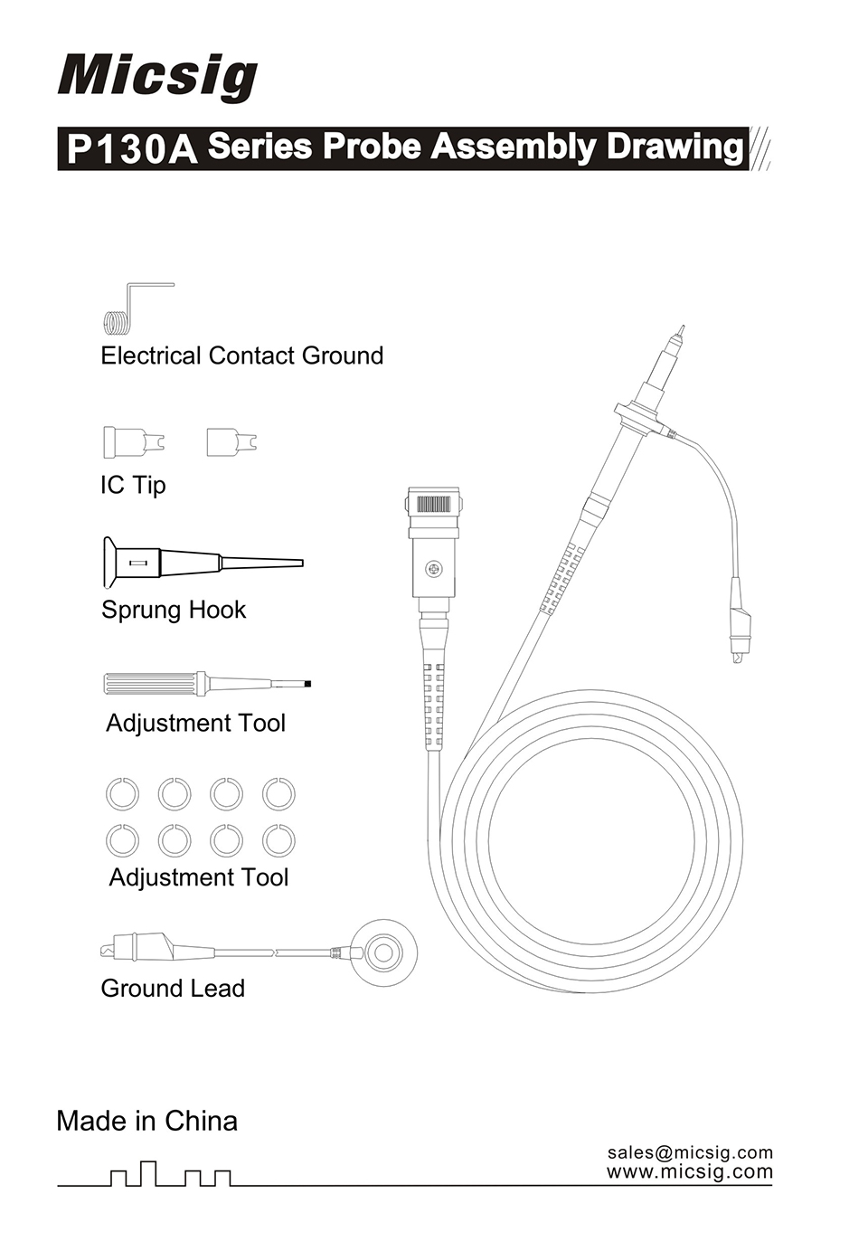 Купить Пара Micsig P130 200 МГц пассивный осциллограф зонд x10 осциллограф зонда клип дешево