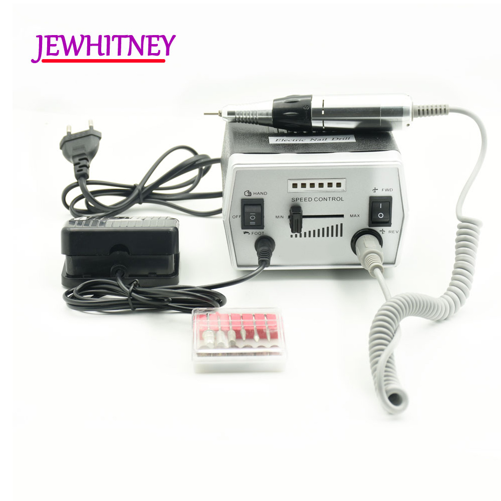 30000RPM Pro Electric Nail Drill Machine Electric Manicure Pedicure Machine Drills Accessory Nail Tools Nail Drill File Kits цена
