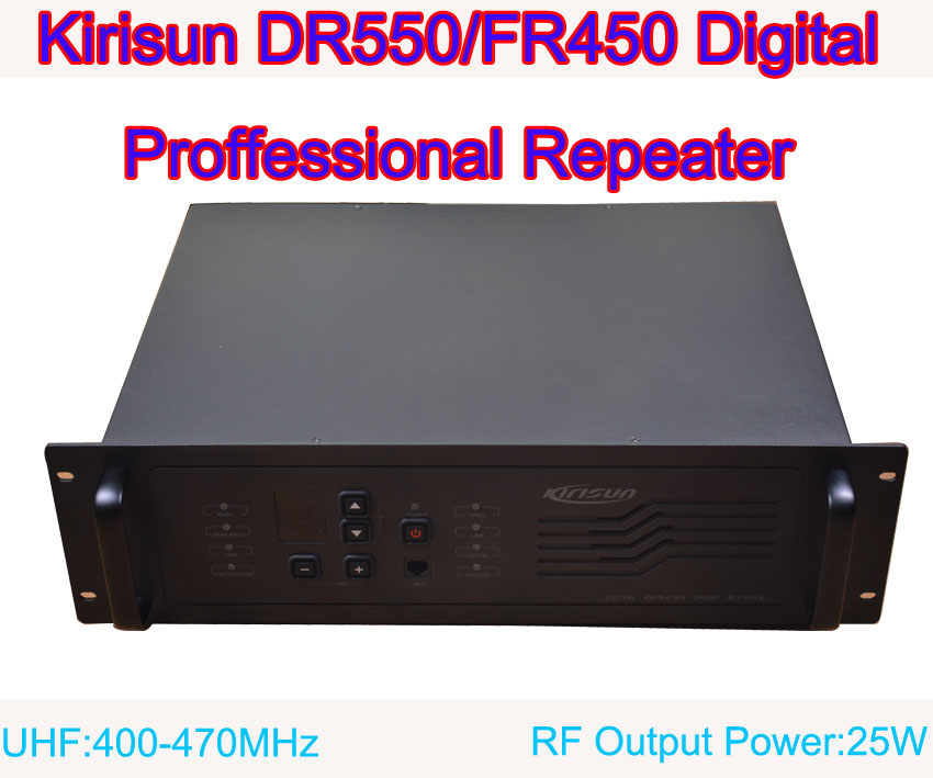 New Arrival Kirisun DR550/FR450 Digital Professional Repeater UHF:400-470MHz 25W 9 Channel Without DuplexerNew Arrival Kirisun DR550/FR450 Digital Professional Repeater UHF:400-470MHz 25W 9 Channel Without Duplexer