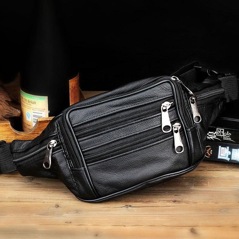 SAFEBET Märke Kvinnor Män Resehalspaket Äkta Läderväska Män - Bälten väskor - Foto 4