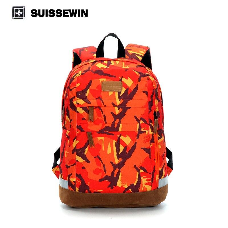 ФОТО Suissewin Nylon Patchwork Backpacks Computer Bag Business Bags Men Women Teenager Waterproof Schoolbag Gear Lightweight  Lapto