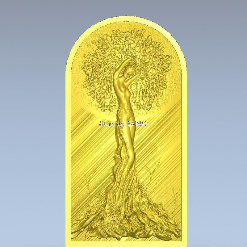 High Quality 3d Model Relief  For Cnc Or 3D Printers In STL File Format Tree Woman