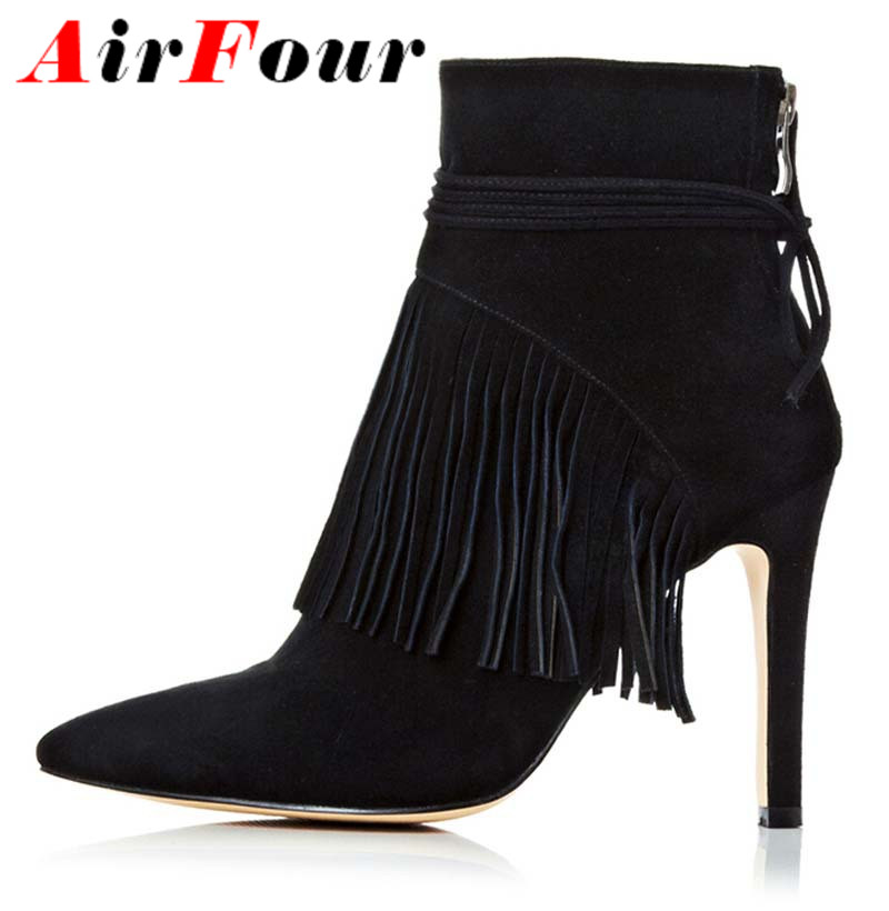 Popular Black High Heel Ankle Boots-Buy Cheap Black High Heel ...