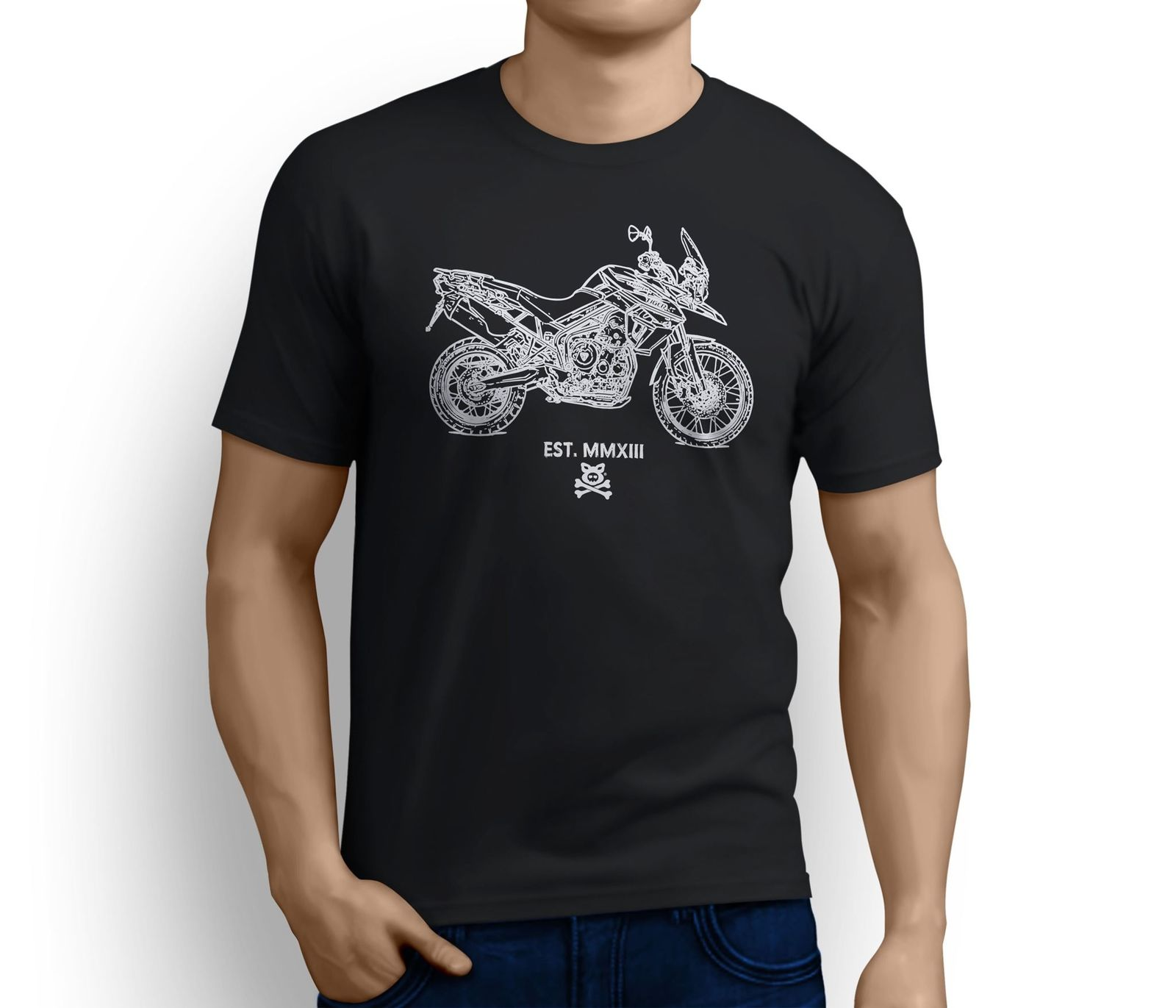 2018 Hot Sale American Motorbike Tiger 800 XC inspired Motorcycle Art T-shirts Tee shirt