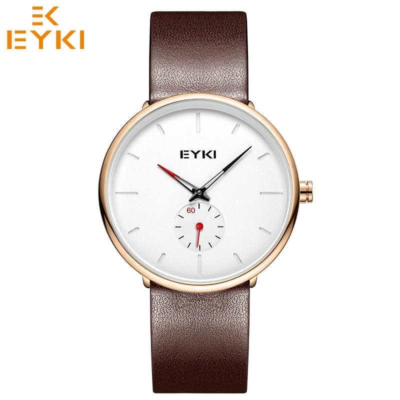 Top Brand Watches EYKI Simple Watch For Men Women Lovers Quartz Movement Waterproof Ultra Thin Clock Montre Homme  Horloge Dames
