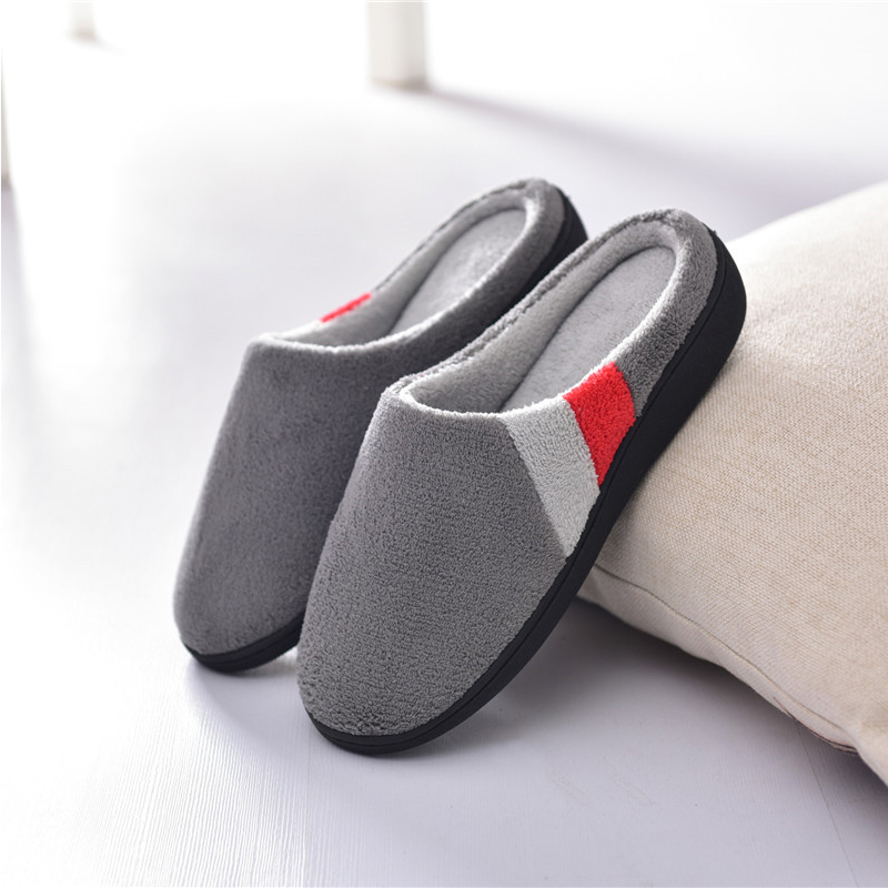 Winter Couple Bedroom Slippers Big Size Men Warm Soft Cotton Shoes ...