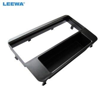 LEEWA Автомобильная 1DIN фасция рамка для ALFA ROMEO 159/Brera/Spider стерео CD Радио обшивка панель монтажная установка рамка адаптер наборы