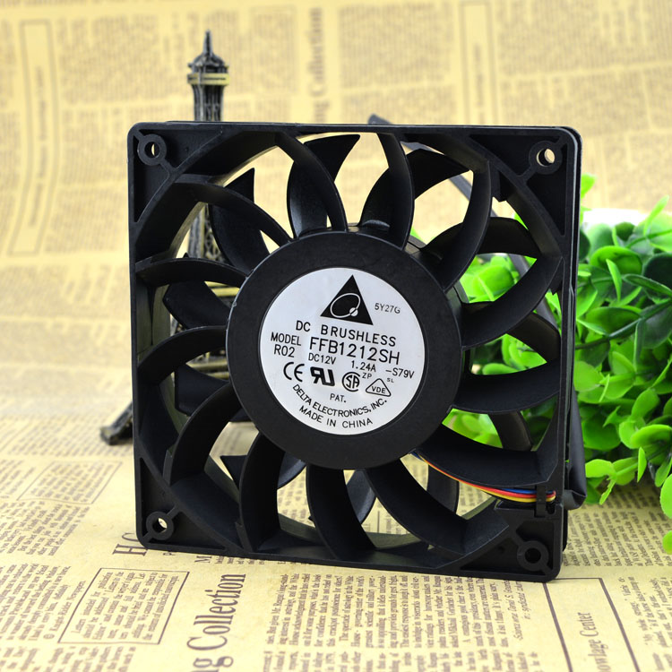 Free Delivery. Authentic FFB1212SH 12 v 1.24 A 12 cm / 12025 cm high speed large air volume fan free delivery high quality dc 12 v switching high current car fan gm stepless speed regulator the biggest support 5 a