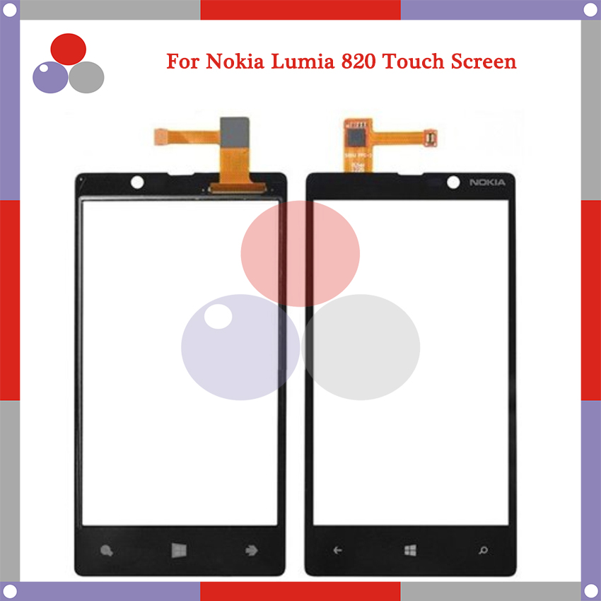 High Quality For Nokia Lumia 820 N820 Touch Screen Panel Sensor Digitizer Outer Glass Lens