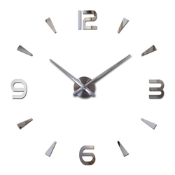 Настенные кварцевые часы с акриловыми стикерами, большие декоративные часы для гостиной в современном европейском дизайне, 2019