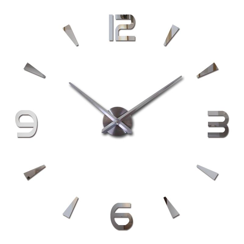 Настенные кварцевые часы с акриловыми стикерами, большие декоративные часы для гостиной в современном европейском дизайне, 2019 clock pocket clock penclock outdoor   АлиЭкспресс