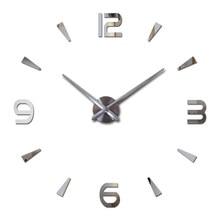 Horloge murale montre à quartz reloj de pared design moderne grandes horloges décoratives Europe acrylique autocollants salon klok horloge
