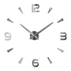 2019 new wall clock quartz watch reloj de pared modern design large decorative clocks Europe acrylic stickers living room klok(China)