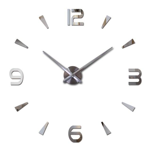 2019 new wall clock quartz watch reloj de pared modern design large decorative clocks Europe acrylic stickers living room klok