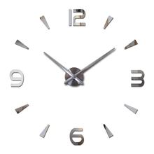 Wanduhr quarzuhr reloj de pared moderne design große dekorative uhren Europa acryl aufkleber wohnzimmer klok uhr cheap CN (Herkunft) 12S021 GEOMETRIC Metal+Acrylic+Eva 90cm Einzelnes Gesicht 900mm 300g QUARTZ Wanduhren 9mm Sheet Noch Leben