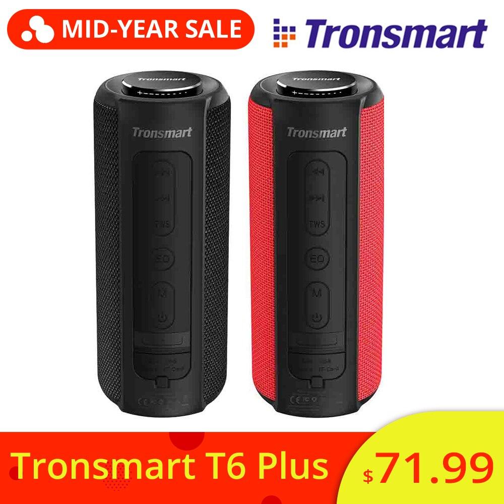 Nouveau Tronsmart Element T6 Plus 40 W TWS SD TF Portable Bluetooth haut-parleur IPX6 étanche extérieur Portable Mini haut-parleur pour téléphones