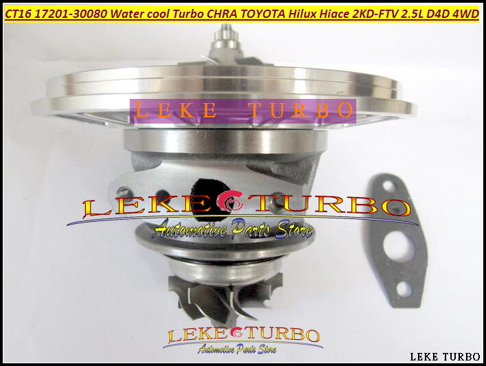 Water Cool Turbo Cartridge CHRA CT16 17201-30080 Turbocharger For TOYOTA Landcruiser Hiace Hi-Lux Hilux 2KD 2KD-FTV 2.5L D4D 4WD turbo cartridge chra ct16 17201 30120 17201 30120 1720130120 oil co for toyota hi ace hi lux hiace hilux 2kd 2kd ftv 2kdftv 2 5l
