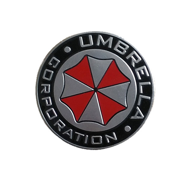 Umbrella Corporation 3D Aluminum Sticker