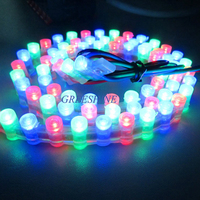 96Leds/M Non waterproof /Silicon tube /PVC waterproof Dip 5MM Flat led Great Wall strip for car decoration RGB 10pcs/lot