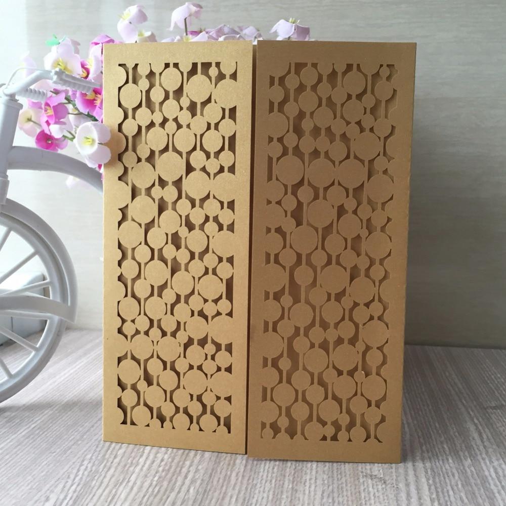 20pcs free shipping laser cut flower design greeting card