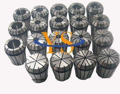 High-precision ER32 collet set 18PCS (3-20mm) Precision (0.005-0.008mm) CNC collet chuck bt40 er32 100l collet chuck holder clamping range 2 20mm precision 0 01mm