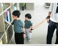 2 IN 1 Kids Anti Lost Wristband 360 degrees rotating Baby Safety Harness Strap Rope Walking Leash Hand Belt Toddlers for twins