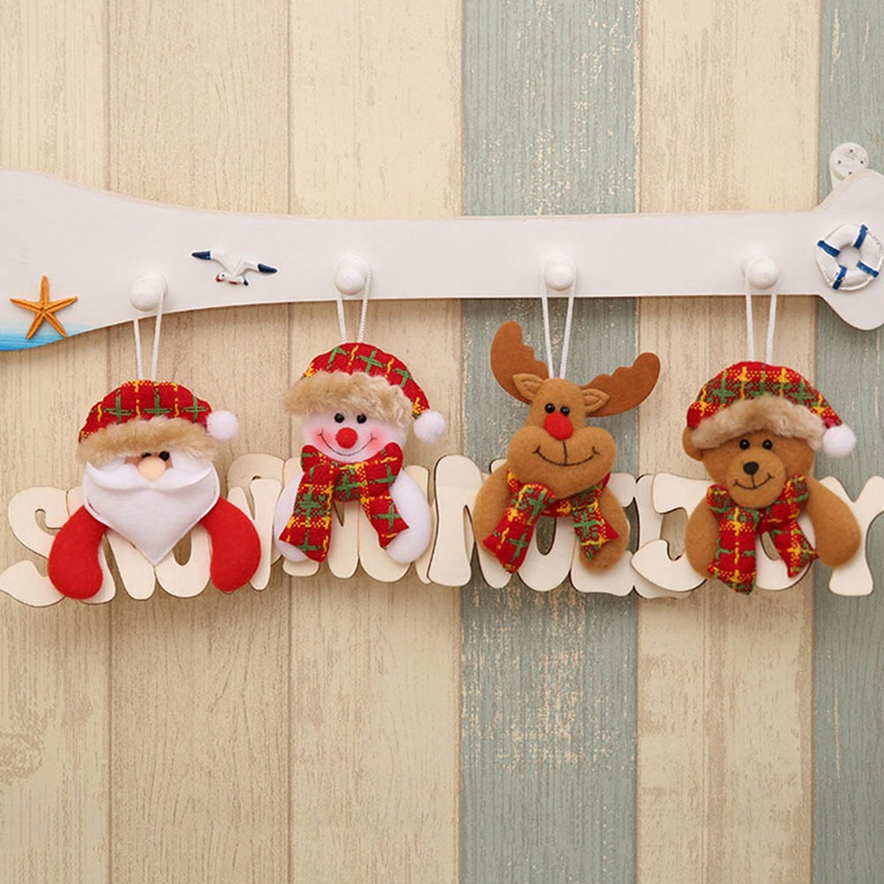 Cool Snowman Decoration Ornaments For Christmas Tree: Christmas Tree Creative Wooden Letters Hanging Decor