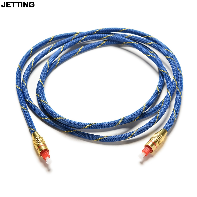 JETTING 1 pc 2M Premium Toslink Digital Optical Fiber Audio Cable TV Cord 6.5FT OD 5.0 Drop Shipping