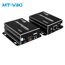 цена на MT-VIKI HDMI KVM Network Extender 120m CAT 5E 6E Network Cable Signal Amplification Transmission With Mouse and Keyboard Control