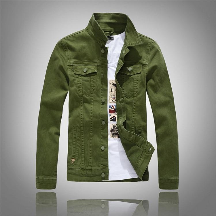 Mees brändi moe denim jope mantel taskud mootorratta denim jope - Meeste riided - Foto 4