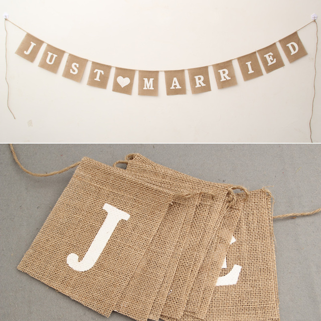 """Just Married"" Garland"