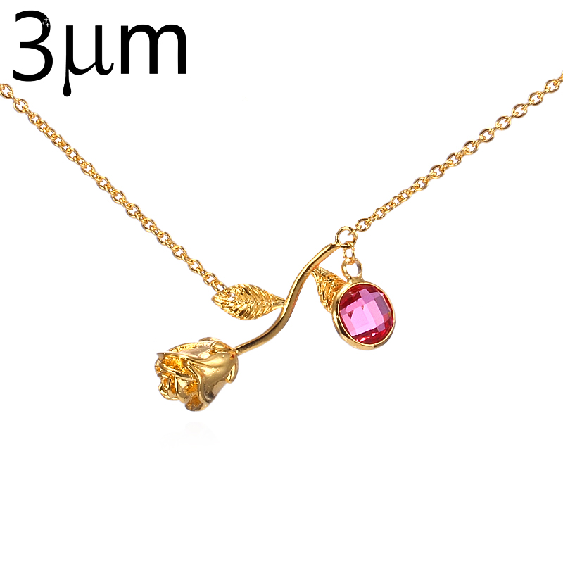 Rose Flower Necklace for Women Beauty and The Beast Final Rose ...