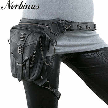 Steampunk Women Waist Bag Gothic Fanny Packs Motorcycle Hip Leg Bag Female Holster Shoulder Bag Leather Crossbody Bags For Men - DISCOUNT ITEM  44% OFF All Category