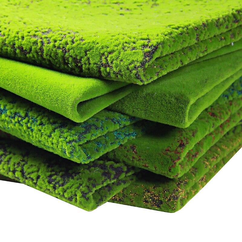 1 cm * 1 cm mousse simulation mousse sur perle coton faux gazon micro paysage vert plante décorative bonsaï