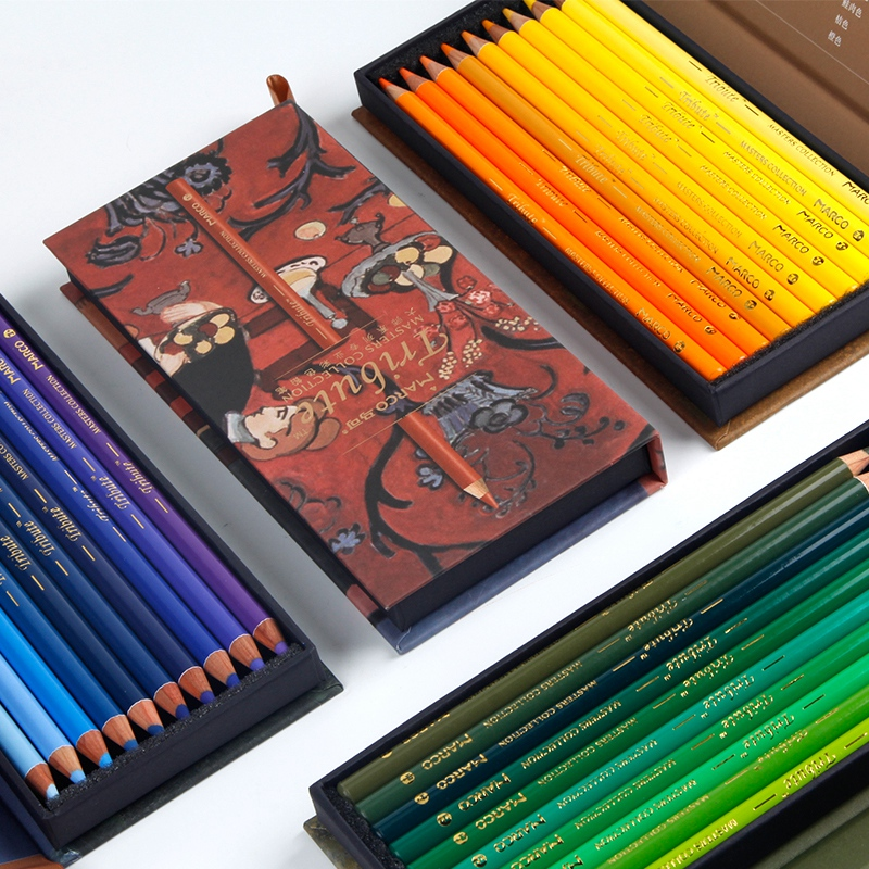 Marco 80 Colores Lapis De Cor Master Collection Oily Color Pencil Lapices De Colores Profesionales Dibujo Painting Color Pencils