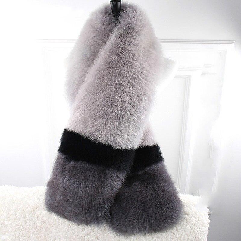 The Original Design Of Color Fox Fur Scarf Fur Collar High end Super Long Range Of Children In Europe And America Winter Female
