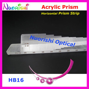Image 4 - Ophthalmic Optical Optometry Acrylic Horizontal Vertical Prism Lens Strips Kit Set Aluminum Case Packed HVB16 Free Shipping