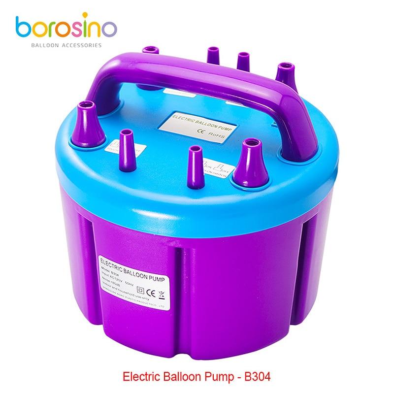 B304 Gratis frakt High Power Four Filling Dyse Oppblåsbar elektrisk ballongpumpe Air Inflator Machine