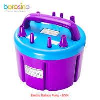 Free shipping for B304 High Power Four Filling Nozzle Inflatable Electric Balloon Pump Air Inflator Machine borosino