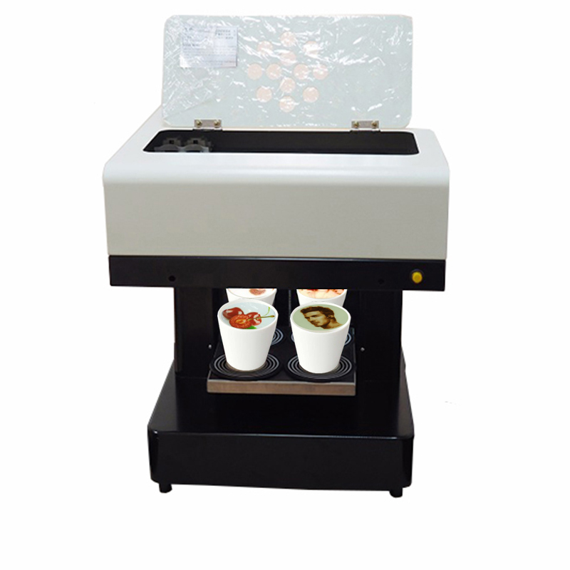 Vilaxh 4 Cup DIY Art Coffee Drinks Printer For Food Cake Cappuccino Biscuits Flower Printing Machine Free Edible inkVilaxh 4 Cup DIY Art Coffee Drinks Printer For Food Cake Cappuccino Biscuits Flower Printing Machine Free Edible ink